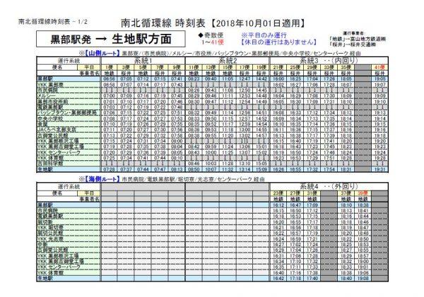 黒部駅発H30.10.1-