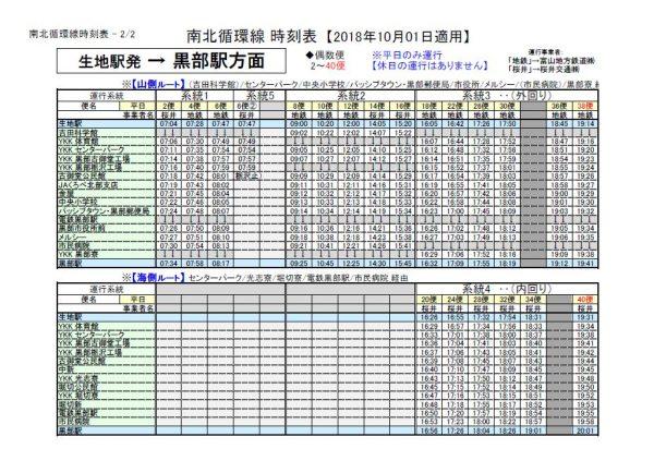 生地駅発H30.10.1-